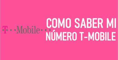 Como saber mi número T Mobile