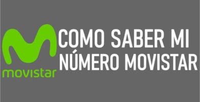 Saber mi número Movistar