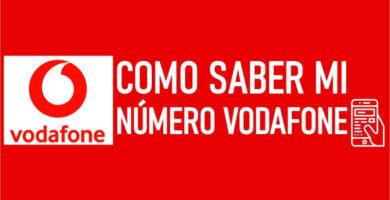 ¿Cómo saber mi numero Vodafone?
